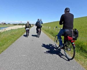 Pellworm mit Fahrrad